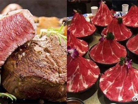 火锅涮肉VS牛排 份量大比拼呦!